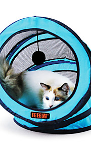 Cat Pet Toys Tubes & Tunnel Foldable Green / Blue / Rose Textile