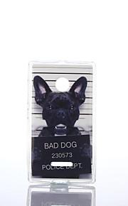 modelo del perro TPU + soft IMD para Nokia Lumia N640 / n535 / N435