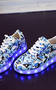 Sneakers a la Moda(Azul / Rosa / Gris / Azul Real) -Punta Redonda-Semicuero