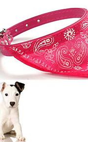 Köpekler Yakalar Ayarlanabilir/İçeri Çekilebilir Kırmızı / Siyah / Mavi PU Deri / Dokuma
