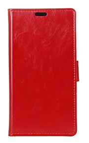 モトローラモトG4プレイケースファッション狂気の馬のテクスチャケース(アソートカラー)用のカードスロット付きフリップカバー財布のスタイル