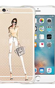 For iPhone 5 etui Transparent Etui Bagcover Etui Sexet kvinde Blødt Silikone iPhone SE/5s/5