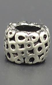 DIY hånd beaded halskæde sølv smykker mode tilbehør grønne honeycomb lampwork perler hac0040w