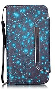 cielo blu modello PU leahter copertura completa del corpo con supporto e slot per schede per Samsung Galaxy S4 S5 S6 s6edge s7 s7edge