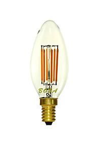 1 stk. NO E14 5W 6 COB 400-500 lm Varm hvit C35 Dimbar / Dekorativ LED-lysestakepærer AC 220-240 V