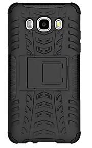 pc + siliconen schild staan robuuste band case voor de Samsung Galaxy J7 (2016) / galaxy J5 (2016) anti shock behandelt geval shell