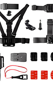 Fantaseal 15-in-1 GoPro Accessories Kit Mount Head Strap Backpack Rec-Mount Remote Strap for GoPro Hero 4 3+ 3 SJCAM