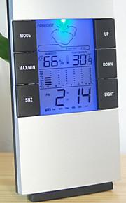 fuktighet Mete lcd digital temperatur instrumenter termometer hygrometer temperatur og fuktighetsmåler klokke