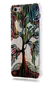 Luxury Brushed TPU Colorful Tree Pattern The Drill Phone Shell Drop Resistance for iPhone SE/5/5S