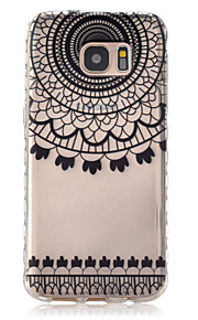On Black Semicircle Pattern Slip TPU Phone Case For Samsung Galaxy S7/S7 edge