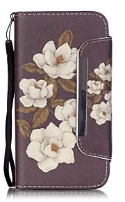 modello di peonia, fiore pu leahter copertura completa del corpo con supporto e slot per schede per Samsung Galaxy S4 S5 S6 s6edge s7