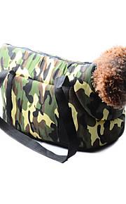 개, 고양이 표범 인쇄 작은 강아지 가방 위장 고양이 가방 애완 동물 가방 개 캐리어 여행 가방을 들고