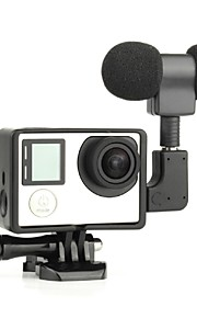 3.5mm Plug Mini Stereo Microphone with Standard Frame for gopro 3/3+/4