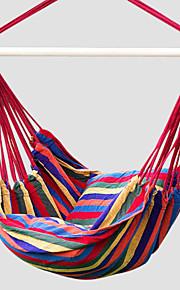 SWIFT Outdoor® Portable Cottton Red Stripe Swing Outdoor Garden Indoor Hammock Hanging Chair