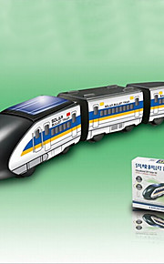 DIY Train Solar Powered Gadgets For Boy Children Educational ABS White / Black