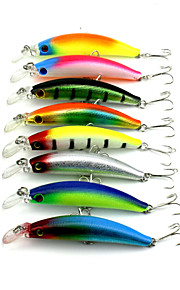 "Błystki 8pcs szt,9g g/1/3 Uncja,95mm mm/3.8"" cal Kolory losowe Twardy plastikSea Fishing / Wędkarstwo słodkowodne / Fishing Lure /"