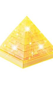 blocos Pirâmide de cristal DIY 3D Puzzle crianças brinquedos educativos criativa pequenos brinquedos ornamento sem luz
