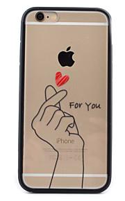 motif de doigt acrylique transparent de cas tpu combo de téléphone pour iphone 6 / 6s / 6 plus / 6s, plus