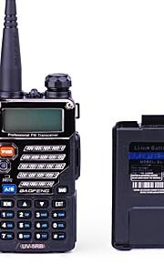 BaoFeng UV-5RB Walkie Talkie + Additional Battery 5W/1W 128 136-174MHz / 400-520MHz