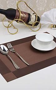 4 Pcs/ pvc dining table mat disc pads bowl pad coasters waterproof table cloth pad slip-resistant pad(Random color)