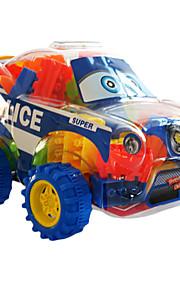 bloqueia o carro de polícia pesando 200 gramas blocos de construção (cerca de 50 a 60 pcs)