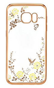 söpö salainen puutarha kukka bling TPU kotelo Samsung Galaxy S5 / S6 / S6 reuna / S6 reuna + / S7 / S7 reuna (eri värejä)