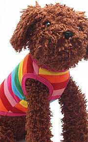 Cães Camiseta Arco-Íris Inverno / Verão / Primavera/Outono Clássico / Riscas Listrado / Fashion-Lovoyager