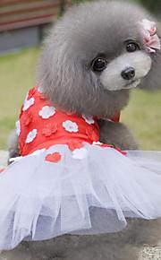 Cães Vestidos Vermelho / Rosa Verão / Primavera/Outono Clássico Casamento / Natal / S. Valentim / Fashion-Lovoyager