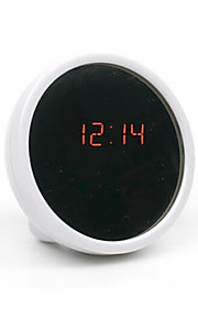 kreativ mute bord klokke elektronisk klokke ledet klokke skjønnhet vekkerklokke med speil (assortert farge)