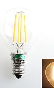 1 stk. Zweihnder E14 4W 4 COB 380 lm Varm hvit G45 edison Vintage LED-glødepærer AC 220-240 V