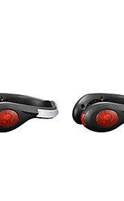 点滅(2個)を実行している導いたシューズクリップライトUSB充電式安全反射警告ランプサイクリングの1組