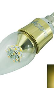 5W E14 LED-lysestakepærer C35 25 SMD 2835 500 lm Varm hvit Dekorativ AC 85-265 / AC 220-240 / AC 100-240 / AC 110-130 V 1 stk.