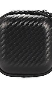 portables mini-pochettes casque cas snakeskin carré écouteurs eva écouteurs portent des sacs 8.5 * 8.5 * 4cm noir