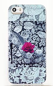 høye hæler rose mønster glitter shine TPU myk tilbake tilfelle for iPhone 5 / 5s / se
