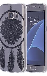 logrotate®dreamcatcher mønster TPU blød tilfældet med skærm beskyttere til Samsung Galaxy s7 / s7 kant / s6 / s6 kant