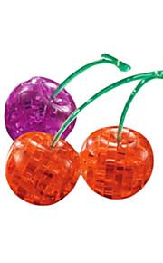 Quebra-cabeças 3D Puzzles / cristal enigma Blocos de construção DIY Brinquedos Cereja ABS Vermelho / Roxa Modelo e Blocos de Construção