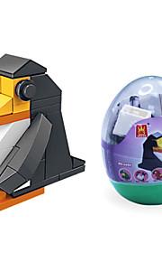 dr wan, le byggesten mini dyr æg emballage pingvin puslespil forsamling byggesten legetøj
