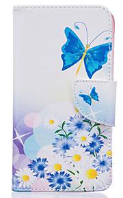 blå sommerfugl mønster kort telefon dækning for lg K7 / k10