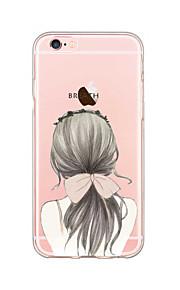아이폰에 대한 여신 헤어 스타일 패턴 소프트 TPU 전화 케이스 (6) / 기가 / 6 플러스 / 6S 플러스