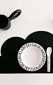 FDA Silicone Placemat Bar Mat Baby Kids Cloud Shaped Plate Mat Table Mat Set Home Kitchen Pads(Random color)