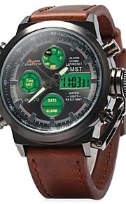Masculino Relógio de Pulso Quartzo Japonês LED / LCD / Calendário / Impermeável / alarme / Luminoso / Relógio Casual Couro Banda