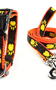 Perros Cuello / Correas Ajustable/Retractable Negro / Amarillo Nilón
