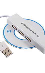 USB 2.0 de 3 puertos / interfaz USB adaptador de masa Gigabit Ethernet 10-100mbs 9.6 * 2.4 * 1.6