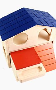 hamster dobbelt kabine små kæledyr farve hus 1piece