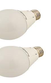 5W E26/E27 LED-globepærer G45 24 SMD 2835 450 lm Varm hvit Dekorativ AC 110-130 / AC 220-240 V 2 stk.