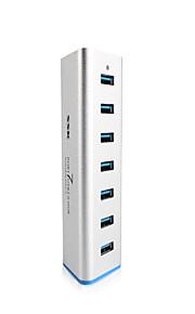 SSK 7 Port USB 3.0 HUB SHU370 Aluminum 5Gbps SuperSpeed Extender with 5V 3.5A Power Adapter USB 3.0 Splitter