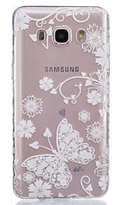 borboleta branca padrão pintado caso de material TPU telefone para Galaxy j1 / j1ace / J120 / J2 / J3 / J5 / J510 / J7 / G360 / G530 /