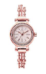 Mulheres Relógio de Moda Quartz Aço Inoxidável Banda Prata / Marrom / Dourada / Ouro Rose marca