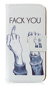 Fuck you Pattern PU leather with Stand Case for iPhone5/5S/SE(Assorted Colors)