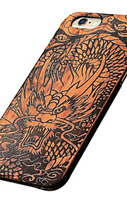 Ultra Thin Wooden Chinese Growling Dragon Hard Protective Back Cover iPhone PC Case for iPhone 6s Plus/6 Plus/6s/6